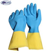 NMSAFETY Gant en néoprène bio couleur flocké gants industriels chimiques