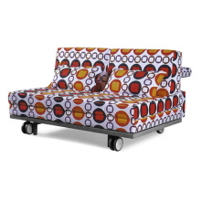 Metal Fabric Folding Sleeper Futon Sofa Bed