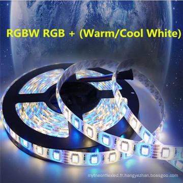 SMD 5050 60leds / m RGBW DC 12V 24V IP68 bande étanche LED