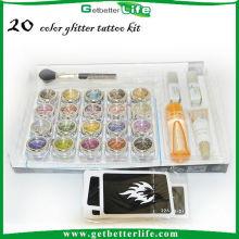 20 tatouages paillettes poudre Glitter tatouages temporaires en gros d'alimentation