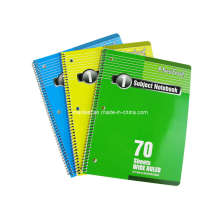 Three Colors spiral Notebook Office Stationery Student Exercise Book