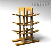 Weinflasche mit Bambus