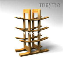 Wine Bottle Rack with Bamboo