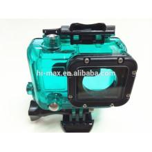 Couleurs multicolores bleu / vert / rouge / blanc étui étanche pour caméra