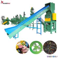 Planta de trituración y lavado de botellas de residuos de PP PE