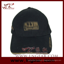 High Quality Blank Flat Top Military Cap Hat Black