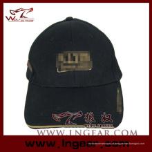 Alta qualidade em branco liso superior militar Cap chapéu preto