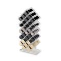 Acrylic Honeycomb Lipstick Stand&Lay Flat Makeup Organizer