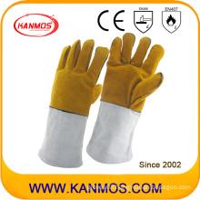 Cowhide Split Leather Industrial Hand Safety Welding Work Gloves (11118)