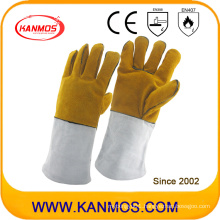 Cowhide Split Leather Industrial Hand Safety Welding Work Gloves (11118)
