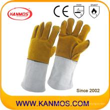 Перчатки из натуральной кожи с разделенной кожей Промышленные рукава для ручной сварки (11118)