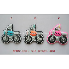 Silicone Cartoon Motorcycle Magnet. Rubber Motorbike Magnet, Drop Cartoon Motor Magnet