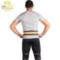 Cinturón de levantamiento de pesas de cuero color negro y amarillo Procircle Cross Fitness
