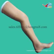 Modelo de perna de tamanho ISO para treinamento de sutura, perna de prática cirúrgica