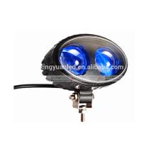 A luz de advertência da segurança azul da empilhadeira do ponto de 10w 10-30v conduziu a mini luz do trabalho para caminhões de empilhadeira