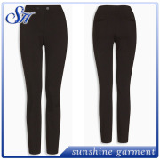 2016 Ladies black office pants trousers with side pocket