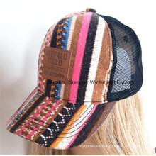 Applique bordado en relieve hebilla de algodón Twill Gorra de béisbol