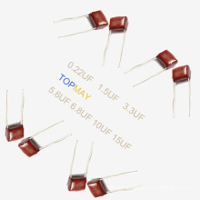 Topmay 2016 Tmcf03 Metallized Polyester Film Capacitor Mkt-Cl21 0.22UF +-10% 250V