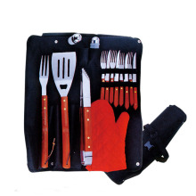 14pcs BBQ set with steak knife and fork