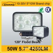 Super brightness 5.5inch 50W 3750LM led work light manufacturer