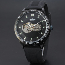 wholesale silicone band men watch with skeleton design