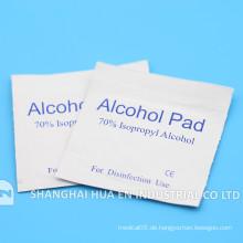 Mit CE FDA ISO Zertifikat Krankenhaus Verwenden Sie sterile Alkohol-Pad
