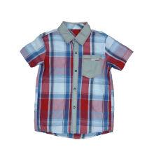 Новая рубашка мальчика конструкции, одежды малышей способа (BS029)