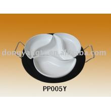 plato de carne de cerámica
