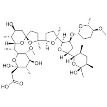 2H-Pyran-2-acetic acid,tetrahydro-2,4-dihydroxy-6-[(1R)-1-[(2S,5R,7S,8R,9S)-9-hydroxy-2,8-dimethyl-2-[(2S,2'R,3'S,5R,5'R)-octahydro-2-methyl-5'-[(2S,3S,5R,6S)-tetrahydro-6-hydroxy-3,5,6-trimethyl-2H-pyran-2-yl]-3'-[[(2S,5S,6R)-tetrahydro-5-methoxy-6-methy
