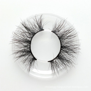 25mm 3D mink eyelashes very long mink fur strip lashes custom private logo