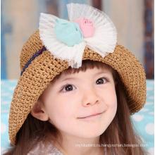 Девочка моды Корея Стиль летние соломенной шляпе