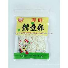bolsa de empaquetado de aperitivos de plástico personalizada para calamares secos