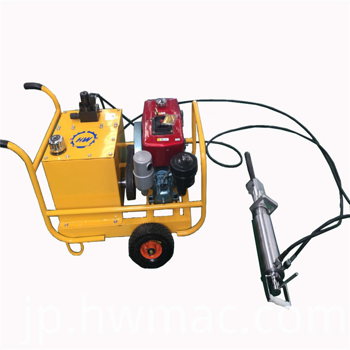 hydraulic rock splittering machine