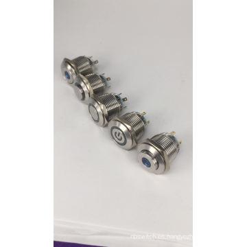 Interruptor de botón LED de punto elevado CE TUV 16 mm
