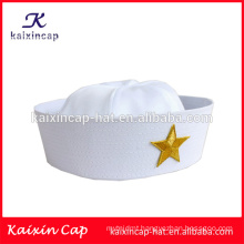 Wholesale custom-made hot sale new style white sailor hat custom blank sailor caps hats
