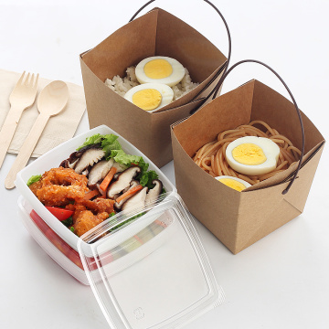 Custom Printed Noodle Disposable Food Kraft Paper Box