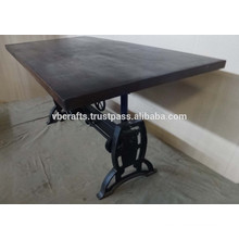 new industrial heavy mechanic crank dining table