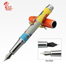 Luxus Metall Stift Logo Kundenspezifischer Metall Füllfederhalter auf Verkauf