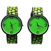Green Printing Boys Silicone Strap Watch