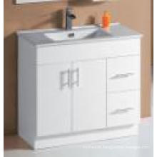 White Gloss MDF Bathroom Vanity (UV6027-900W)