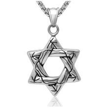 Collar de la joyería de la manera de Hexagram colgante del acero inoxidable 316L
