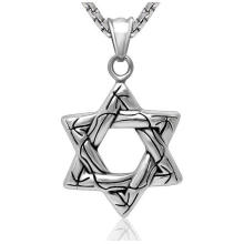 Hexagram Fashion Jewelry Necklace Pendant 316L Stainless Steel