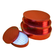 Luxury Red Oval Packaging Paper Gift Box