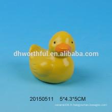 Mignon décoration en céramique de Pâques à la forme de canard