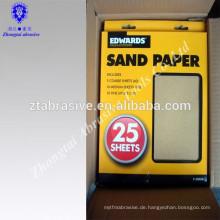 Japan heißer Verkauf 9 '' * 11 '' 46 # --- 320 # Schleifen Möbel Bambus Holz Sandpapier