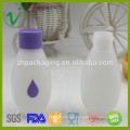 Plástico de botella de leche HDPE redonda vacía de grado alimenticio con tapa
