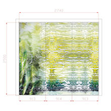 Interior Art Decorative Glass Wall Panels For Counter Decor , 3600mm*2400mm