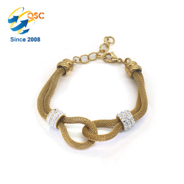 Beautiful Custom Logo Girls Jewelry Charm Bracelet/Stainless Steel Bracelet Woman