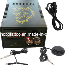 Nueva negro profesional Digital de LCD tatuaje fuente de alimentación (HB1005-39)