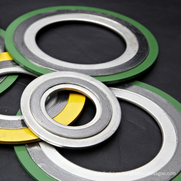 ASME B16.20 Junta de espiral en espiral Material de acero inoxidable con anillo exterior y anillo interior
